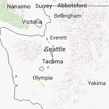 Regional Hail Map for Seattle, WA - Thursday, September 5, 2013