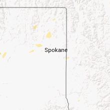 Regional Hail Map for Spokane, WA - Saturday, August 2, 2014
