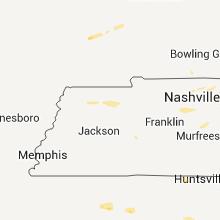 Regional Hail Map for Mc Kenzie, TN - Friday, April 3, 2015