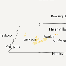 Regional Hail Map for Mc Kenzie, TN - Wednesday, April 15, 2015