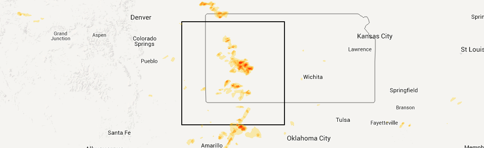 Hail map for garden city ks wednesday may 27 2015 for Directions to garden city kansas