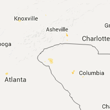 Regional Hail Map for Greenville, SC - Saturday, July 18, 2015