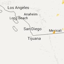 Regional Hail Map for San Diego, CA - Saturday, July 18, 2015