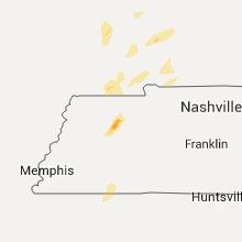 Regional Hail Map for Mc Kenzie, TN - Sunday, March 27, 2016