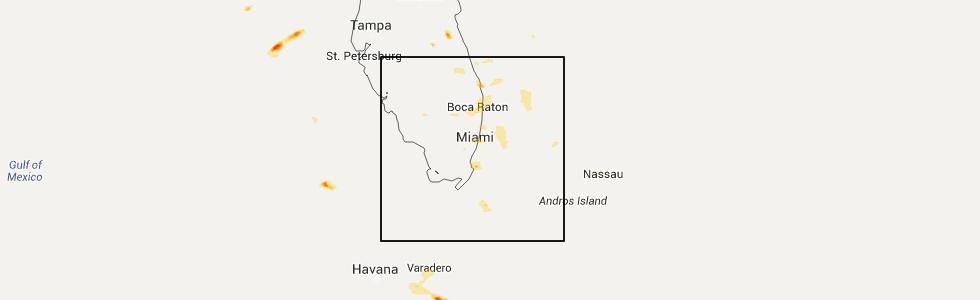Map Of Delray Beach Florida.Interactive Hail Maps Hail Map For Delray Beach Fl
