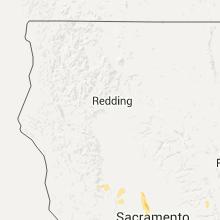 Regional Hail Map for Redding, CA - Thursday, May 5, 2016