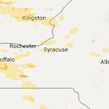 Regional Hail Map for Syracuse, NY - Monday, June 20, 2016