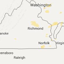 Regional Hail Map for Richmond, VA - Friday, July 1, 2016