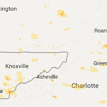 Regional Hail Map for Bristol, TN - Friday, July 8, 2016