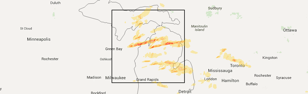 Interactive Hail Maps Hail Map for Lewiston MI