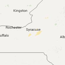Regional Hail Map for Syracuse, NY - Wednesday, July 13, 2016