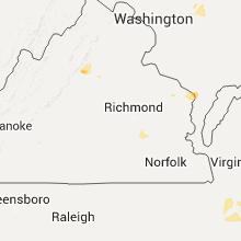 Regional Hail Map for Richmond, VA - Monday, July 18, 2016