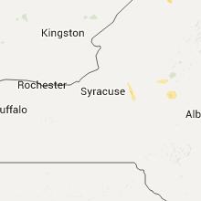 Regional Hail Map for Syracuse, NY - Saturday, July 23, 2016