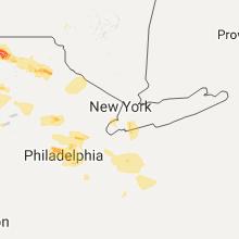 Regional Hail Map for Brooklyn, NY - Monday, July 25, 2016