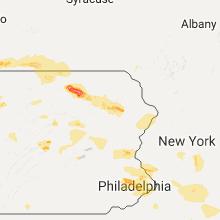 Regional Hail Map for Scranton, PA - Monday, July 25, 2016