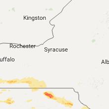 Regional Hail Map for Syracuse, NY - Monday, July 25, 2016