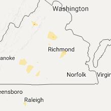 Regional Hail Map for Richmond, VA - Tuesday, July 26, 2016
