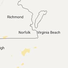 Regional Hail Map for Virginia Beach, VA - Saturday, July 30, 2016
