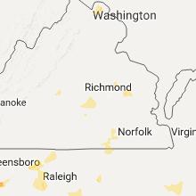 Regional Hail Map for Richmond, VA - Sunday, July 31, 2016