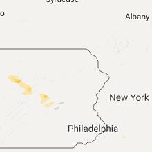 Regional Hail Map for Scranton, PA - Sunday, July 31, 2016