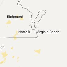Regional Hail Map for Virginia Beach, VA - Sunday, July 31, 2016