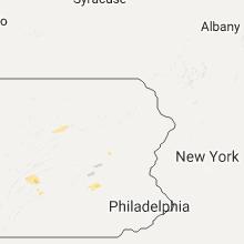 Regional Hail Map for Scranton, PA - Monday, August 1, 2016