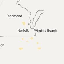 Regional Hail Map for Virginia Beach, VA - Tuesday, August 2, 2016