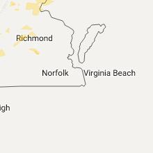 Regional Hail Map for Virginia Beach, VA - Monday, August 15, 2016