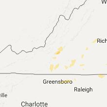 Regional Hail Map for Roanoke, VA - Wednesday, August 17, 2016
