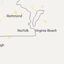 Regional Hail Map for Virginia Beach, VA - Wednesday, August 17, 2016