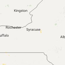Regional Hail Map for Syracuse, NY - Sunday, August 28, 2016