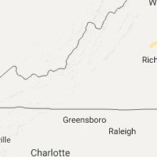 Regional Hail Map for Roanoke, VA - Wednesday, August 31, 2016