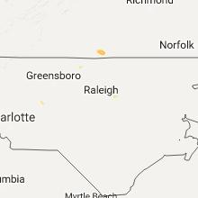 Regional Hail Map for Raleigh, NC - Thursday, September 1, 2016