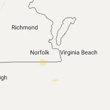 Regional Hail Map for Virginia Beach, VA - Sunday, September 11, 2016