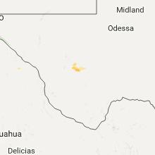 Regional Hail Map for Alpine, TX - Sunday, September 18, 2016