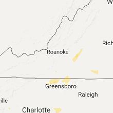 Regional Hail Map for Roanoke, VA - Tuesday, September 27, 2016