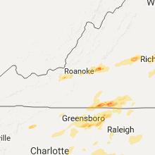 Regional Hail Map for Roanoke, VA - Wednesday, September 28, 2016