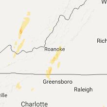 Regional Hail Map for Roanoke, VA - Thursday, September 29, 2016
