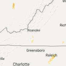 Regional Hail Map for Roanoke, VA - Friday, September 30, 2016