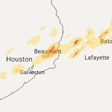 Regional Hail Map for Beaumont, TX - Friday, January 20, 2017