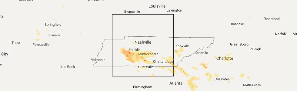 Interactive Hail Maps Hail Map For Dalton GA - Georgia map 21