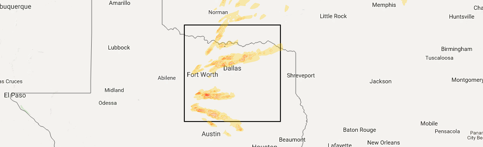 Interactive Hail Maps Map For Justin Tx