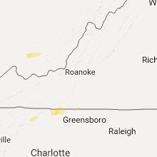 Regional Hail Map for Roanoke, VA - Monday, March 27, 2017