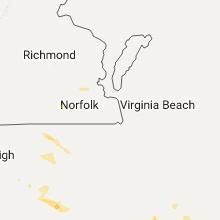 Regional Hail Map for Virginia Beach, VA - Tuesday, March 28, 2017