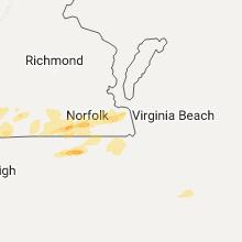 Regional Hail Map for Virginia Beach, VA - Friday, March 31, 2017