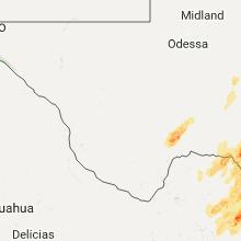 Regional Hail Map for Alpine, TX - Saturday, April 1, 2017