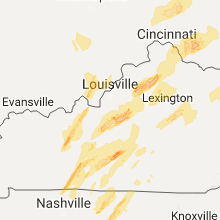 Regional Hail Map for Louisville, KY - Wednesday, April 5, 2017