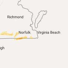 Regional Hail Map for Virginia Beach, VA - Saturday, April 22, 2017