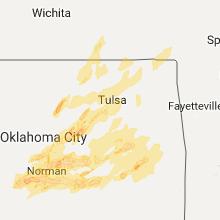Hail Map for tulsa-ok 2017-04-25