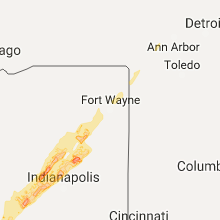 Hail Map for fort-wayne-in 2017-04-26